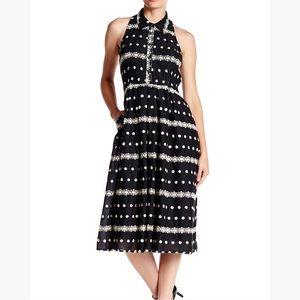 Eva Franco embroidered spread collar shirt dress 6